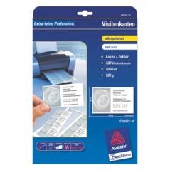 Cartoes Visita Avery 85mmx54mm Microperfurado Inkjet Laser (100Un)