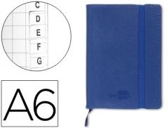 Bloco Apontamentos A6 105mmx148mm Indice Azul (Un)