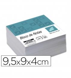 Bloco Notas 95mmx90mmx40mm Liso Branco (Un)