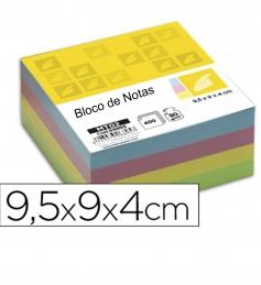 Bloco Notas 95mmx90mmx40mm Liso Cores Sortidas (Un)