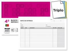 Bloco Impresso Notas de Entrega Triplicado 140x210mm (Un)