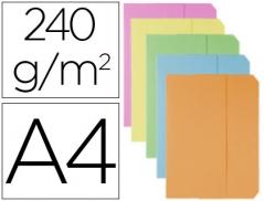Classificador Cartolina C/Aba Cores Sortidas FastPaper(10Un)