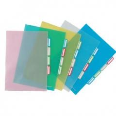 Bolsa Plástico em L A4 c/ 4 Separadores - Azul (Un)