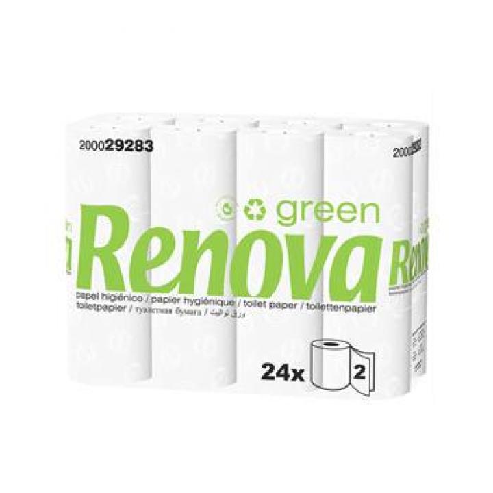 Papel Higienico Domestico 16,5mts 2Fls Renova Green (Pack24)