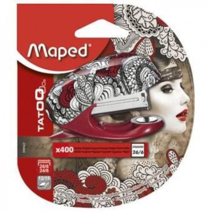 Agrafador Maped MINI TATOO 24/6 + 400 Agrafos (Un)