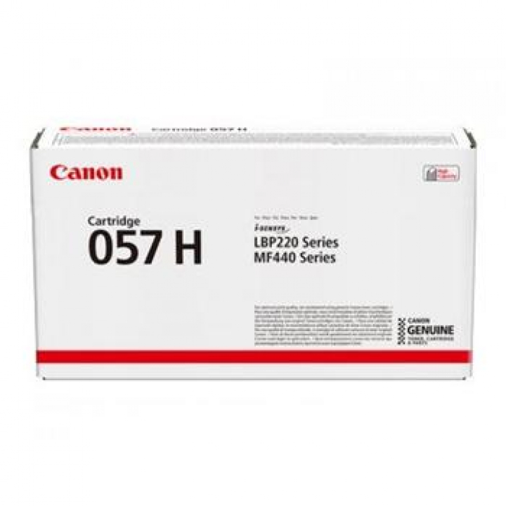 Canon 057H (CAN3010C002) Toner Preto LBP220 Series/MF440/MF443dw/MF445dw/MF446x/MF449x Alta Capacidade