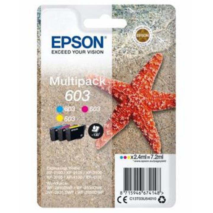 Epson C13T03U54010 (Nº603) Tinteiro Multipack 3 Cores (Azul, Magenta, Amarelo) XP2100/XP3100/XP4100/Workforce WF2810/WF2830/WF2835/WF2850