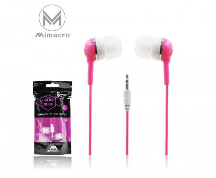 Auricular 3.5mm 1,2Mts - Rosa (Un)