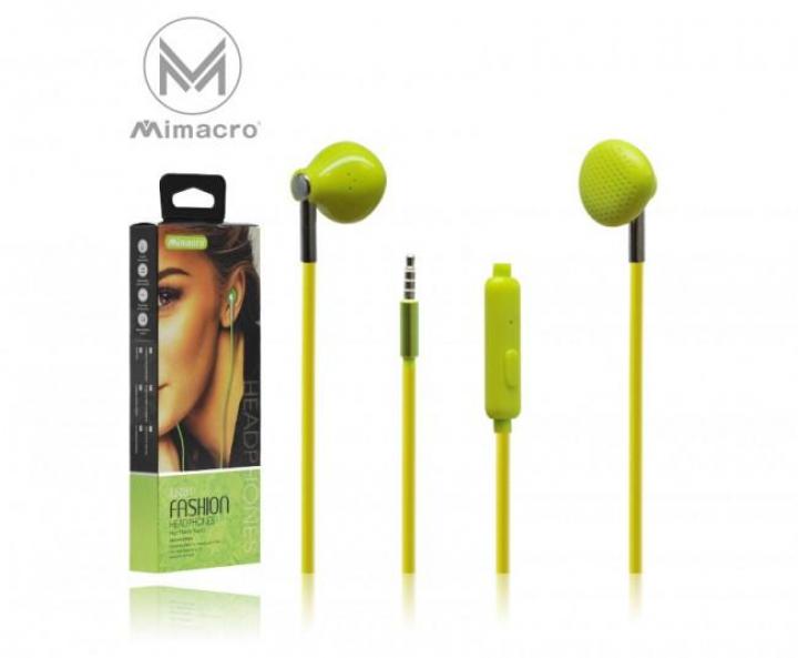 Auricular EJ-031 Vol / Mic 1.2M Jack 3.5mm - Verde (Un)