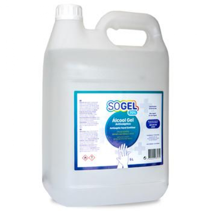 Gel Higienizante Desinfetante Anti-séptico Mãos 5L (Un)