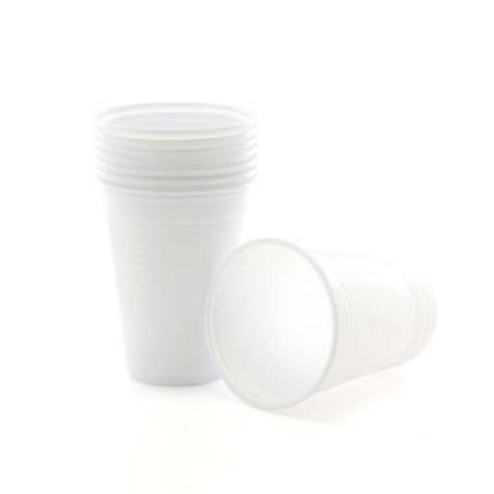 Copos Plástico 200ml Branco (Água/ Chá) Pack 50 (Un)