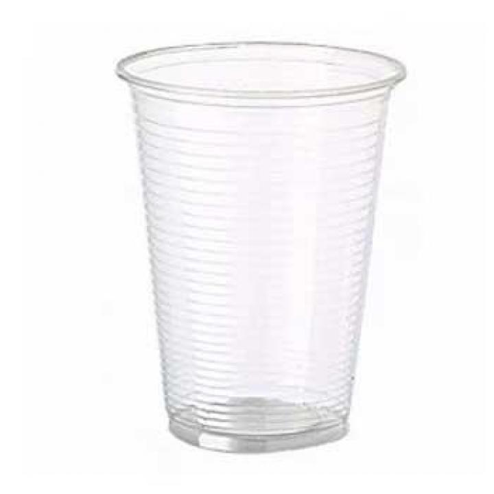 Copos Plástico 330ml PP Transparente (Água/ Chá) Pack 50 (Un)