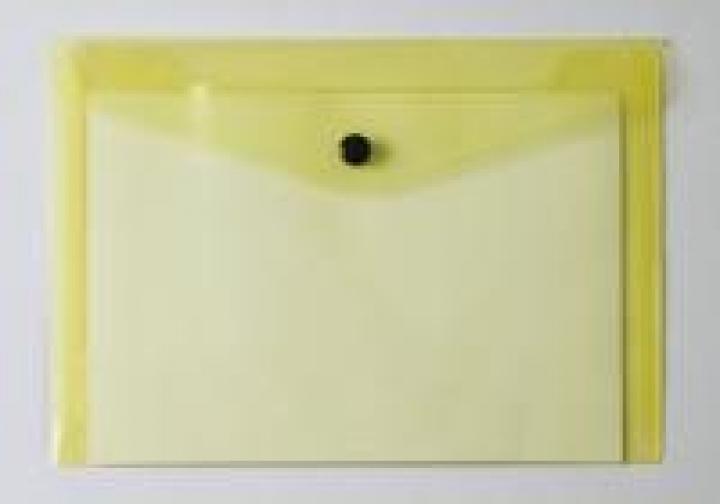 Bolsa Porta Documentos Amarelo A6 c/ Mola (Un) $