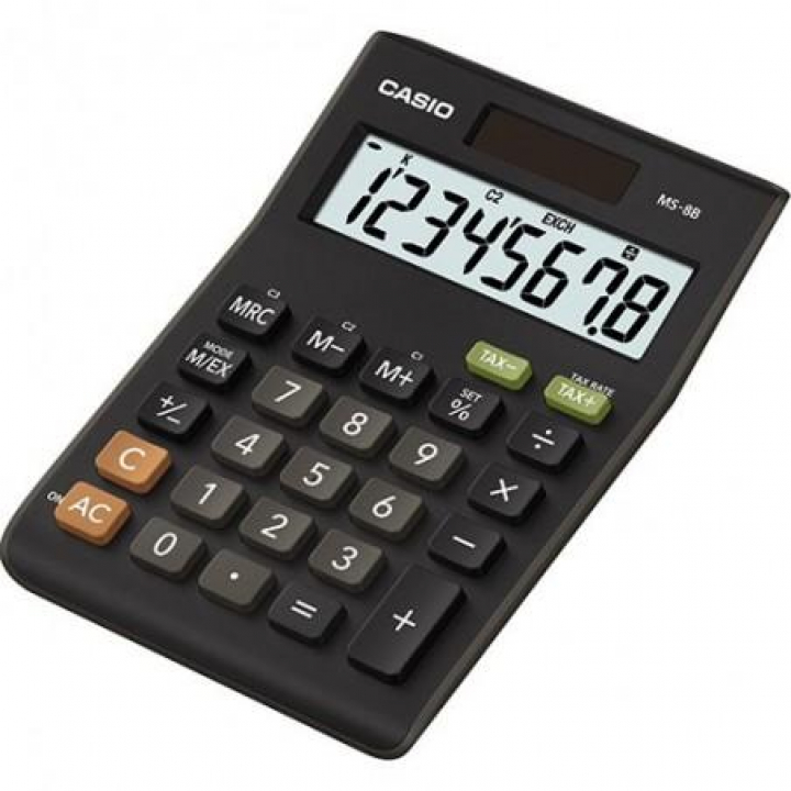Calculadora CASIO Secretaria  MS8B 8 Digitos (Un)