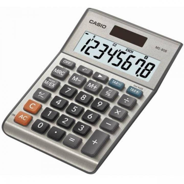 Calculadora CASIO Secretaria  MS80B 8 Digitos (Un)
