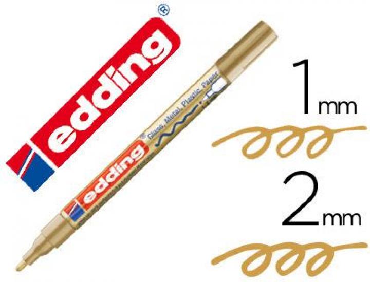 Marcador Edding ponta de fibra 751 Ouro ponta redonda 1,5 mm (Un)