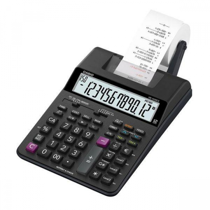 Calculadora CASIO Secretaria HR150RCE 12 Digitos c/ Fita (Un)
